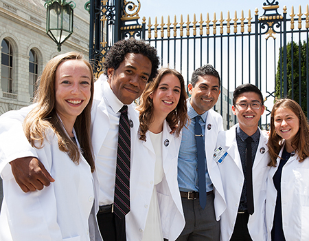 white coat students